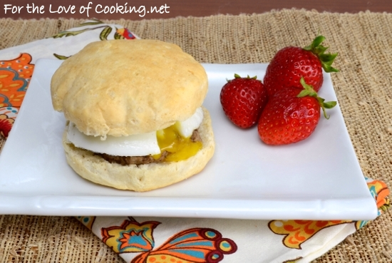 Sausage, Egg, and Biscuit Sandwich