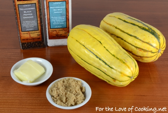 Delicata Squash with Brown Sugar and Butter