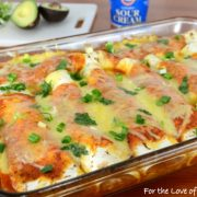 Pork Tenderloin and Caramelized Onion Enchiladas in a Homemade Enchilada Sauce