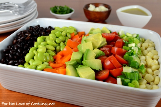 Mexican Chopped Salad with a Citrus Vinaigrette