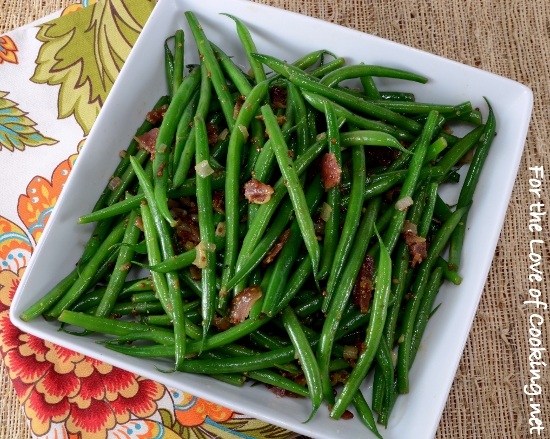 Green Beans with Bacon Vinaigrette