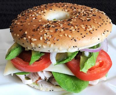 Turkey, Havarti, and Avocado Bagel Thin Sandwich