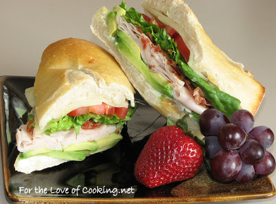 Turkey, Pancetta and Avocado Sandwich