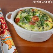 Veggie Mini Frittata with Asparagus, Tomato, Spinach, and Extra Sharp Cheddar