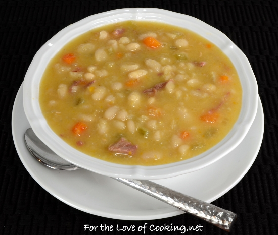 Slow Simmered White Bean and Ham Soup | For the Love of ...