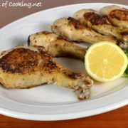 Lemon Garlic Baked Chicken Drumsticks
