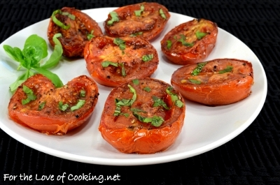 Balsamic Roasted Tomatoes with Fresh Basil