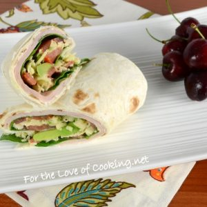 Turkey and Avocado Wrap with Pepper Jack Cheese