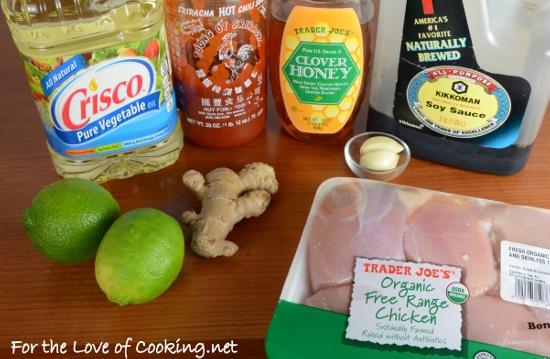 Honey, Lime, and Sriracha Chicken Skewers