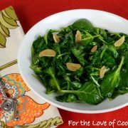 Sesame Garlic Wilted Spinach