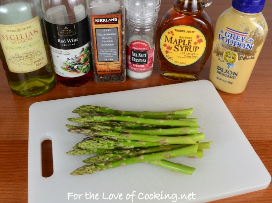 Maple Dijon Asparagus | For the Love of Cooking