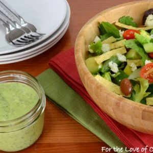 Southwestern Salad with an Avocado Cilantro Lime Dressing