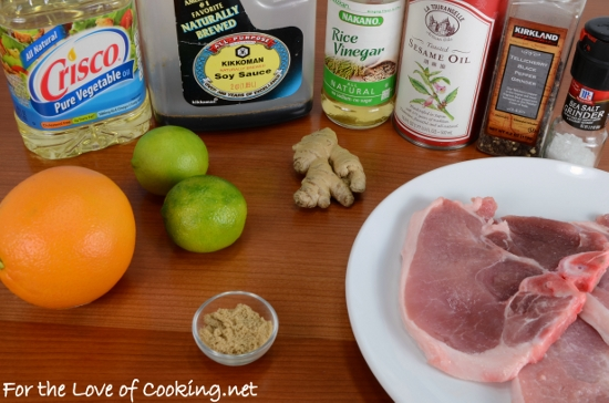 Ginger-Sesame Thin Cut Pork Chops