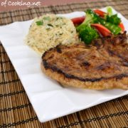 Ginger-Sesame Pork Chops