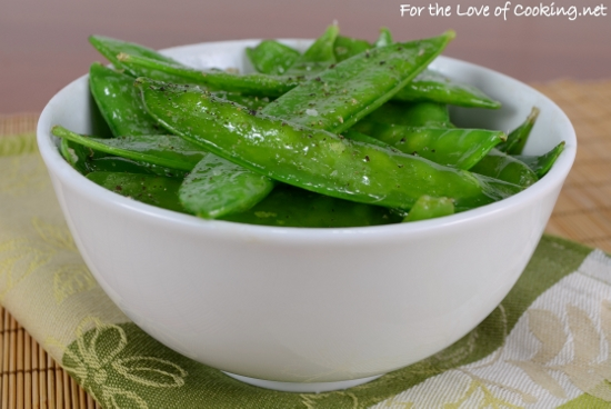 Garlicky Snow Peas