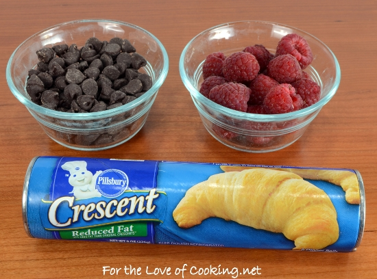 Dark Chocolate and Raspberry Stuffed Crescent Rolls
