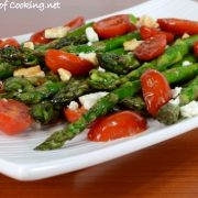 Asparagus and Tomato Sauté with Balsamic and Feta