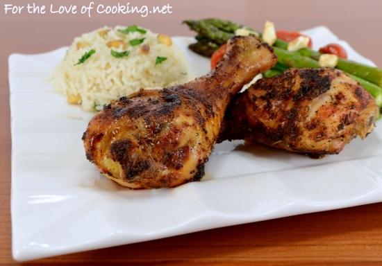 Spicy Roasted Chicken Drumsticks