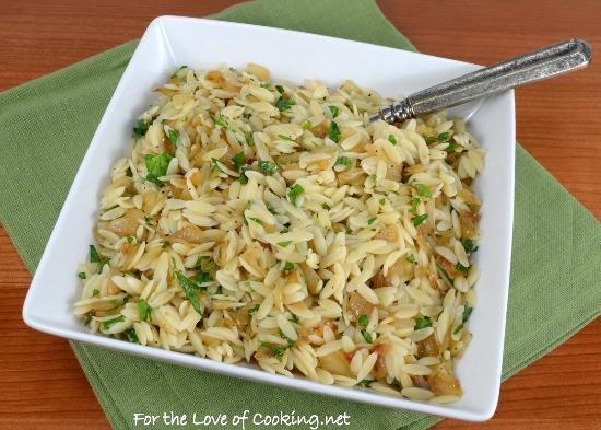 Caramelized Onion Orzo