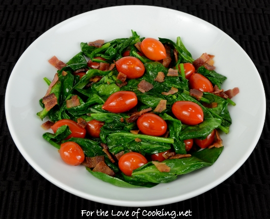 how to cook fresh spinach as a side dish