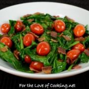 Spinach, Tomato, and Bacon Sauté