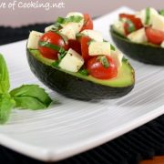 Caprese Salad Stuffed Avocado