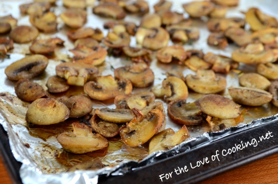 Roasted Mushroom & Swiss on Garlicky Sourdough