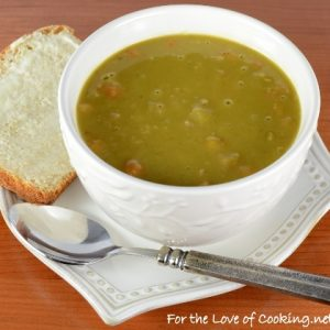 Slow Simmered Split Pea and Ham Soup