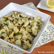 Roasted Cauliflower with Fresh Herbs and Parmesan