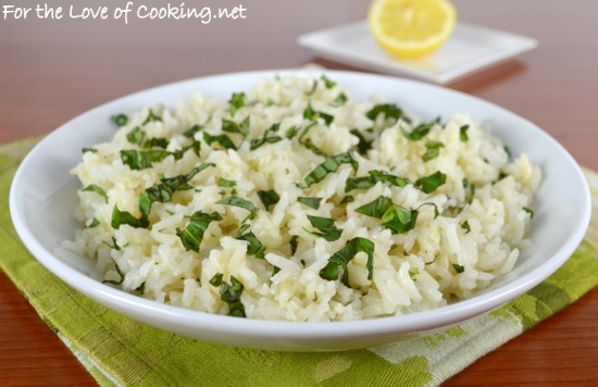 Lemon Basil Rice