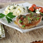 Pork Tenderloin Medallions in a Lemon Caper Sauce