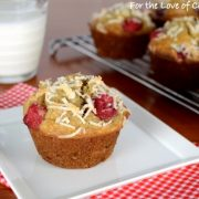 Toasted Coconut, Banana, and Raspberry Muffins