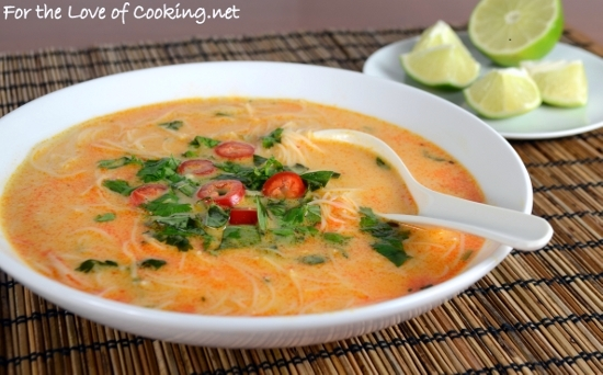 Spicy Thai Curry Soup | For the Love of Cooking
