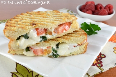 Caprese Panini with Basil Mayonnaise
