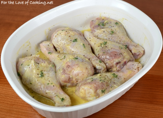 Lemon-Mustard Chicken Drumsticks
