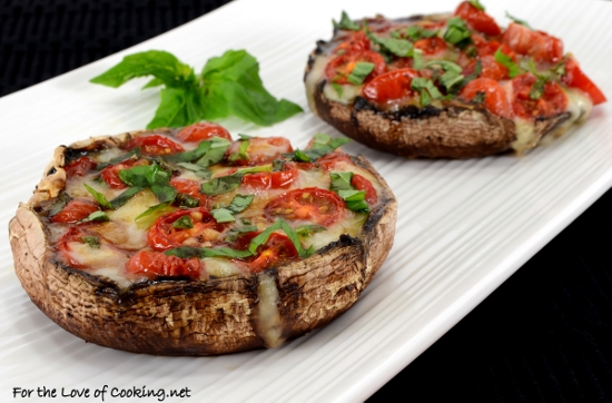 Caprese Stuffed Roasted Portobellos