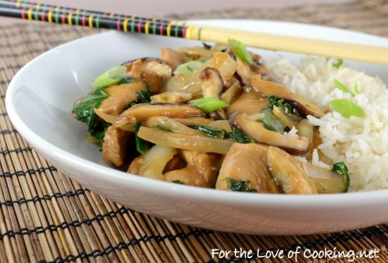 Chicken, Shiitake, and Kale Stir Fry