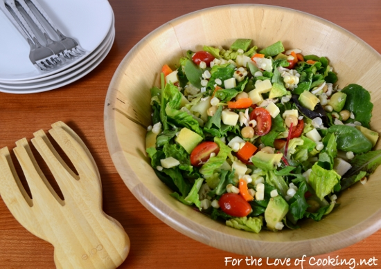 Chicken Chopped Salad with Avocado, Grilled Corn, and Extra Sharp Cheddar