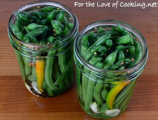 Quick Refrigerator Spicy Dill Green Beans