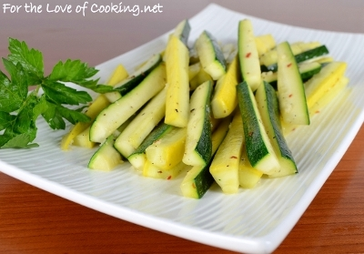 Spicy Zucchini and Squash Spears