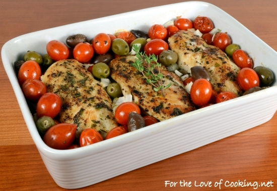 ... Chicken Breasts with Tomatoes, Olives, Capers, and Garlic