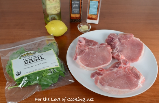 Basil-Garlic Rubbed Pork Chops