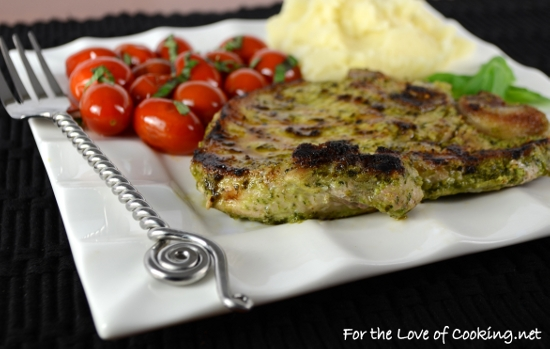 Basil-Garlic Rubbed Pork Chops