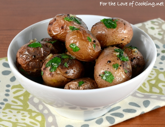 Garlicky Roasted Baby Red Potatoes