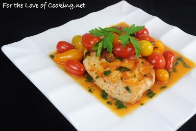 Chicken Breasts with Tomato Herb Pan Sauce