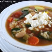 Vegetable, White Bean, and Orzo Soup