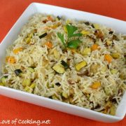 Basmati Rice with Roasted Fennel, Bell Pepper, Zucchini, and Squash