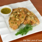 Chicken Paillard with a Garlic Lemon Dill Sauce