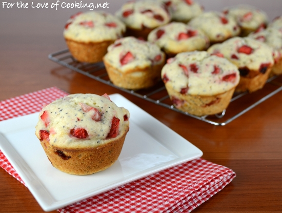 Strawberry Lemon Poppy Seed Muffins