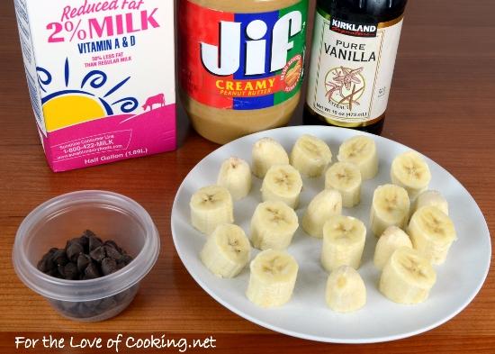 Banana, Chocolate, and Peanut Butter Milkshake